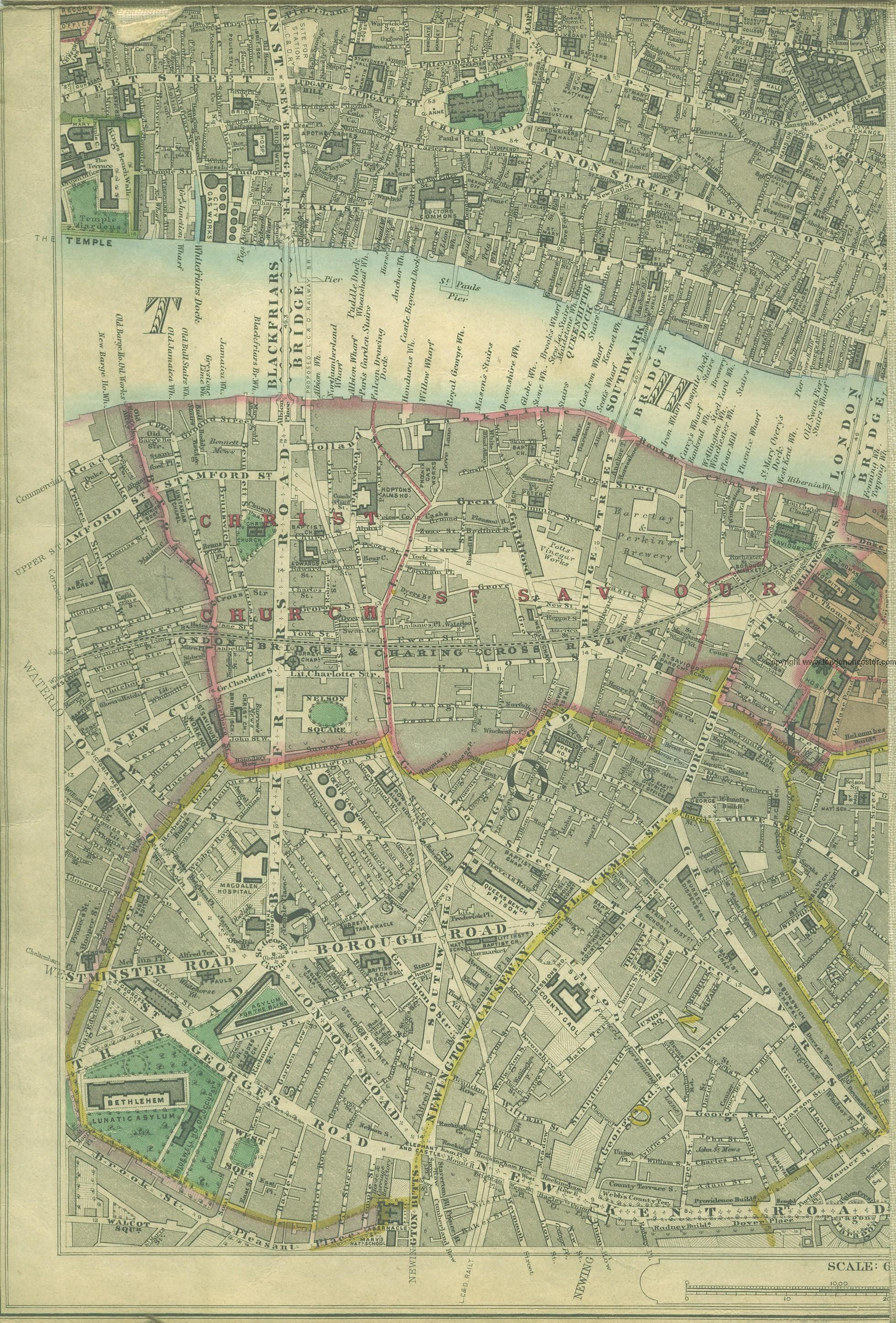A Timeline History of the Borough (Old Southwark) with