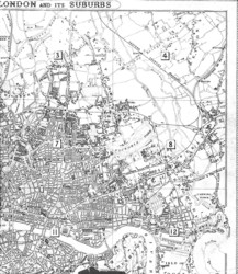 Map Of North East London.Historical Map Of London By Stanford 1862