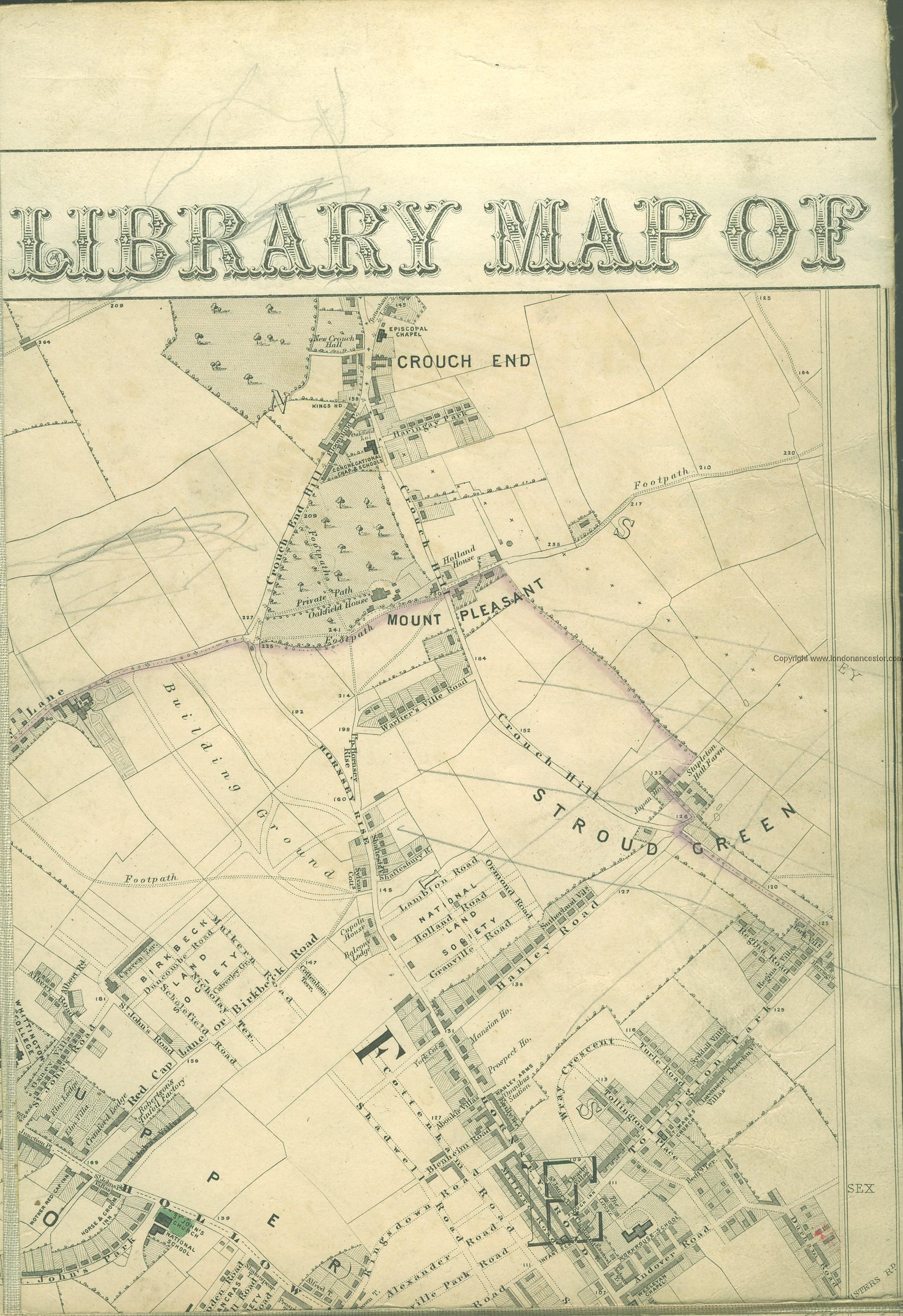 Hornsey Map Hornsey